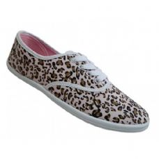 Wholesale Footwear Women's Print Canvas Shoes Cheetah Print