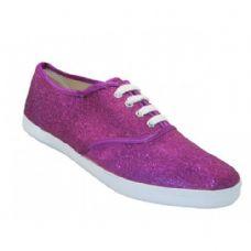 Wholesale Footwear Women's Glitter Canvas Shoes