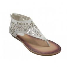 Wholesale Footwear Women's Thong Sandals In White