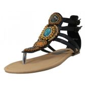 Wholesale Footwear Women's Beaded Gladiator Sandals