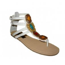 Wholesale Footwear Women's Beaded Gladiator Sandals