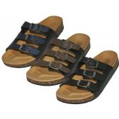 Wholesale Footwear Women's Slide 3 Buckle Slide Sandals