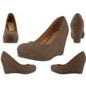 "Wholesale Footwear Women's Microsuede With 3 1/4"" Wedge"