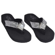 Wholesale Footwear Ladies Fashion Sandal Rhinestone Strap