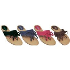 Wholesale Footwear Ladies Sandal With Denim And Lace