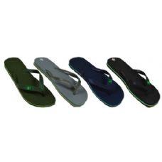 Wholesale Footwear Men's Solid Color Flip Flops