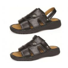 Wholesale Footwear Men's PU Fishermen Black Sandals