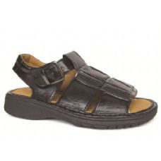 Wholesale Footwear Men's PU Fishermen Black Sandals