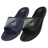 Wholesale Footwear Men's Velcro With Massage In Sole Shower Slides