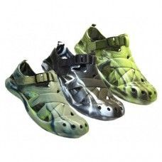 Wholesale Footwear Men's Camouflage Velcro Sandals