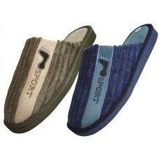 Wholesale Footwear Men's House Corduroy Slippers