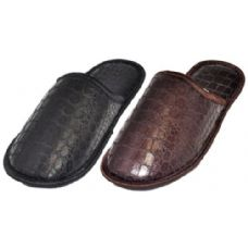 Wholesale Footwear Mens Croc Print Slippers