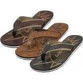 Wholesale Footwear Men's Emboss Insole Sport Flip Flops