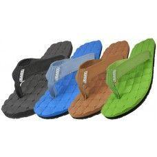 Wholesale Footwear Men's Canvas Fip Flops