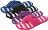 Wholesale Footwear Women's Striped Slipper Thongs M-XXL