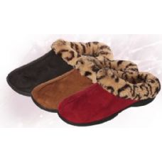Wholesale Footwear Women's Plush Leopard Print Slipper
