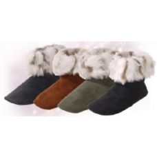 "Wholesale Footwear Isadora"" Womens Bootie Slippers"