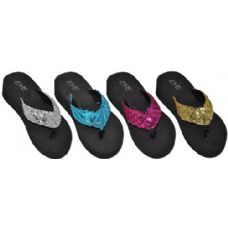 Wholesale Footwear Ladies Rhinestone Thong Sandal