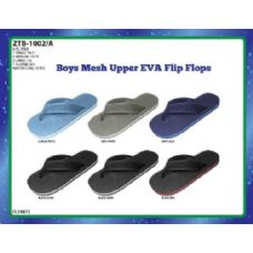 Wholesale Footwear BOYS MESH UPPER EVA FLIP FLOPS WITH WATERLINE