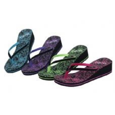Wholesale Footwear Ladies Wedge Flip Flop