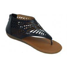 Wholesale Footwear Ladies Summer Fashion Sandals In Black