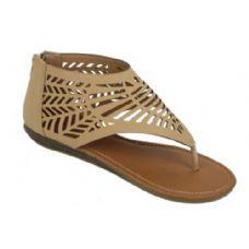 Wholesale Footwear Ladies Summer Fashion Sandals In Khaki Color