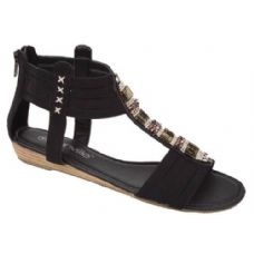 Wholesale Footwear Ladies Fashion Sandals in Black