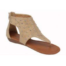 Wholesale Footwear Ladies Fashion Sandals In Camel