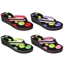 Wholesale Footwear Ladies Fashion High Heel Flip Flop