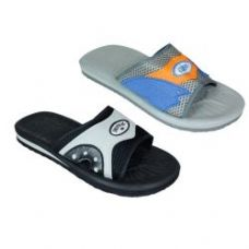 Wholesale Footwear Mens Asst Sandal Black And Gray