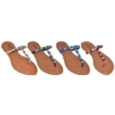 Wholesale Footwear Ladies Rhionstone Fashion Flip Flop