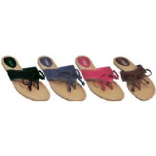Wholesale Footwear Ladies Summer Lace Bow Flip Flop
