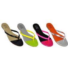 Wholesale Footwear Ladies Neon Color Summer Flip Flop