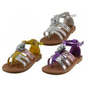 Wholesale Footwear Girl's 3d Rose Sandals
