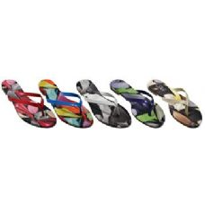 Wholesale Footwear Ladies Printed Flip Flop Sandal