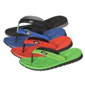 Wholesale Footwear Men's Flip Flops In Assorted Colors And Sizes