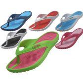 Wholesale Footwear Women's Sport Multi Colors Flip Flops
