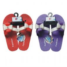 Wholesale Footwear Ladies Slipper w/ Dots Bow