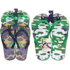 Wholesale Footwear Mens Assorted Army Print Flip Flops