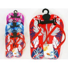 Wholesale Footwear Ladies Printed Flip Flops