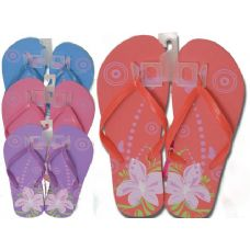Wholesale Footwear Ladies Printed Flip Flops