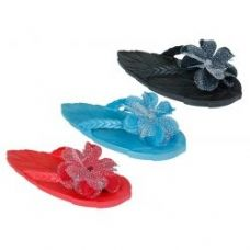 Wholesale Footwear Ladies Flower Flip Flops