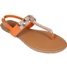 Wholesale Footwear Ladies Fashion Sandals In Orange