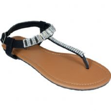 Wholesale Footwear Ladies Summer Sandals In Black