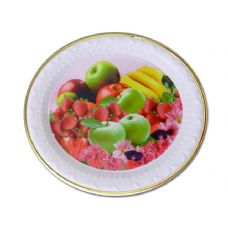 Wholesale Footwear round goldtrim tray fruit design