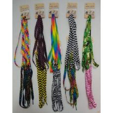 Wholesale Footwear 1 Pair Shoe LaceS--Assorted Printed