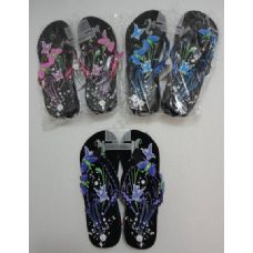 Wholesale Footwear Ladies Platform Flip Flops with Butterflies