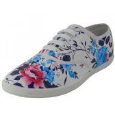 Wholesale Footwear Women's Roses Print Canvas Shoes