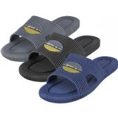 Wholesale Footwear Men's Soft Rubber Shower Slides