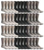 Wholesale Footwear Yacht & Smith Men's Sports Crew Socks, Assorted Colors Size 10-13 Bulk Pack